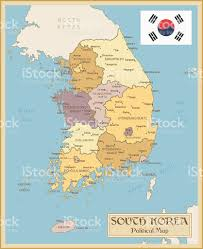 Map Of South Asia by Vintage Map Of South Korea Stock Vector Art 470140754 Istock