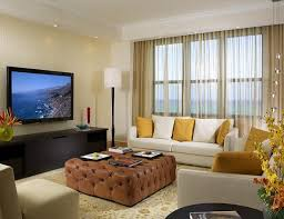home theater room ideas with modern sofa and large tv unit small