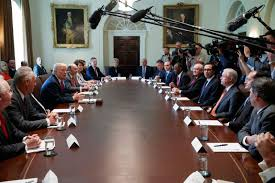 Cabinet White House No Chaos U0027 President Trump Insists As He Swears In New Chief Of Staff