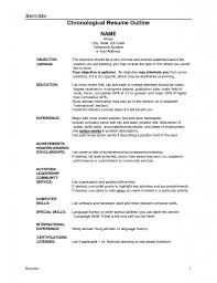 Job Resume Language Skills by Job Resume Outline Resume For Your Job Application