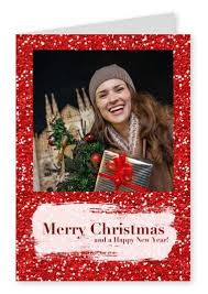 merry christmas red glitter christmas cards send real