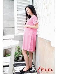 dam bau đầm bầu xuông tay nơ hồng thế giới thời trang đầm bầu đẹp giá rẻ