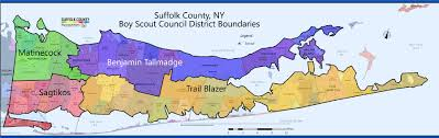 suffolk county map boy scouts of america suffolk county council