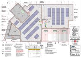 pv plan flat roof mounted solar array on healthcare bulding