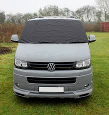 vw t5 transporter window front screen curtain wrap cover frost