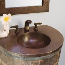 native trails copper sink contemporary bathroom vanity with copper sink inside sedona top