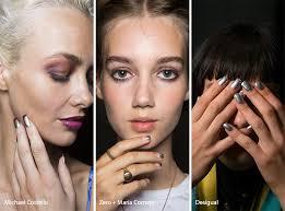 spring summer 2017 nail trends nail trends metallic nails and