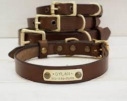 dog necklace leather images Leather dog collars etsy jpg
