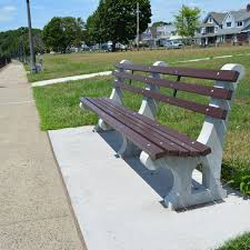 Park Bench And Table Concrete And Wood Surface Mounted Park Bench Kenneth Lynch And Sons