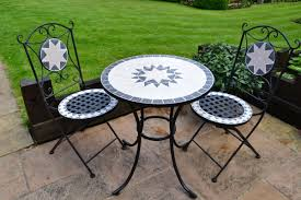 Outside Bistro Table Mosaic Outdoor Bistro Table Set U2013 Home Designing
