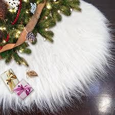 faux fur tree skirt ivenf 48 luxury snow white christmas tree skirt thick