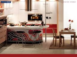 kitchen dazzling kitchen decorating ideas in red color also two