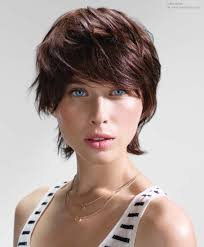 Extended Neckline Haircut | boyish short hair with the extended neck zone curled upward