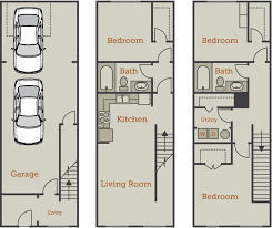 three bedroom townhouse floor plans floor plans archives canalside lofts apartment homes in downtown