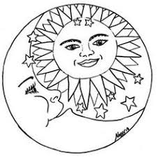 sun and moon coloring pages best of 1000 images about sun on