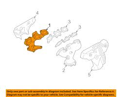 nissan murano exhaust manifold removal nissan oem exhaust manifold 14004ca000 ebay