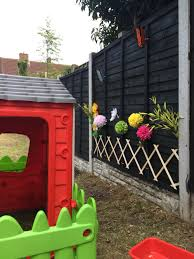 flower garden on a fence panel ideal to make a child friendly