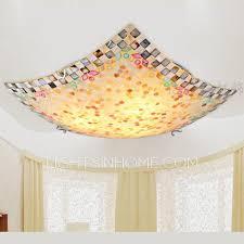 Ceiling Lights For Sitting Room Seashell E27 Base Flush Mount Ceiling Light Fixture