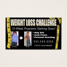 weight loss business cards u0026 templates zazzle