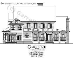 colonial farmhouse plans shenandoah house plan house plans by garrell associates inc