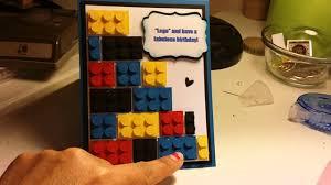 Lego Invitation Cards Lego Birthday Card Youtube
