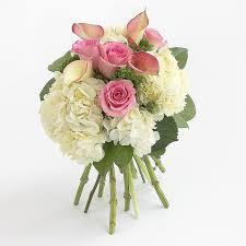 hydrangea bouquet pink calla and hydrangea bouquet in mickleton nj bowkay