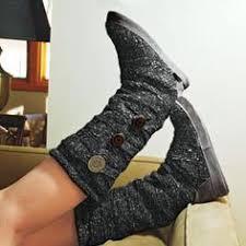 sweater boots with buttons que te enseñarán y motivarán a usar calentadores grey