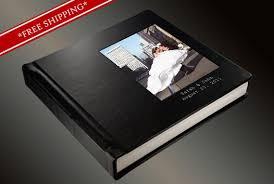 Leather Wedding Photo Album Photo Album Flush Mount Wedding Album With 2 Lines Of Imprinting