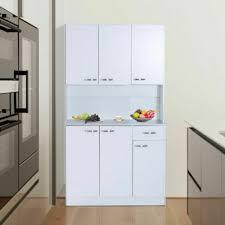 homcom kitchen pantry cupboard wooden storage cabinet organizer shelf white homcom kitchen pantry cupboard wooden storage cabinet organizer shelf white