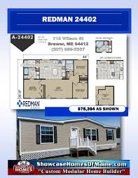 Redman Homes Floor Plans by Double U0026 Single Wides Showcase Homes Of Maine Bangor Me