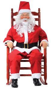rocking santa decorations props