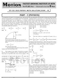 download jee advanced 2013 paper 1 solutions docshare tips