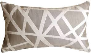 criss cross stripes gray rectangular throw pillow from pillow decor