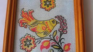make an imitation embroidery wall hanging diy home