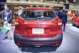 nissan kicks red nissan kicks at dubai motor show 2017 rear indian autos blog
