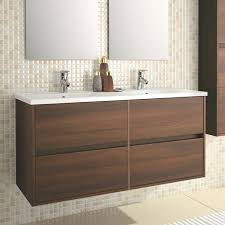 Vanity Units And Basins Eco Line Noja 1200 Wall Mounted 4 Drawer Double Vanity Unit U0026 Dual