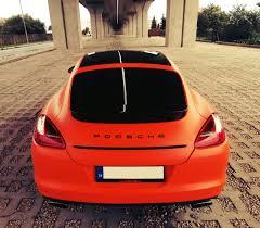 porsche panamera red car wrap porsche panamera matte orange by jvgarage youtube