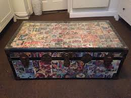 retro vintage upcycled star wars comic decoupage coffee side