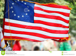 Betsy Ross Flags Betsy Ross Flag With Thirteen Stars And Stripes Stock Image