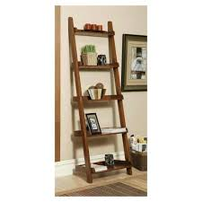 Narrow Mahogany Bookcase by Bookshelf Astounding Leaning Ladder Shelf Ikea Outstanding