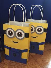minions favor bag goodie bag candy set of 10