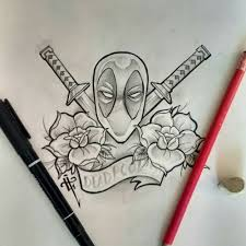 13 superb deadpool tattoo designs