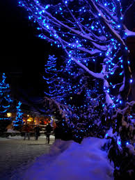 Twinkling Christmas Tree Lights Canada by Blue Christmas Whistler Village Christmas Lights Absolutely