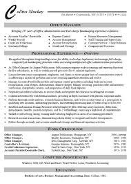 Resume Samples For Experienced It Professionals by Office Administrator Resume Example