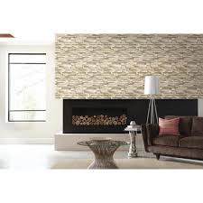 Interior Stone Walls Home Depot Roommates 28 18 Sq Ft Natural Flat Stone Peel And Stick Wall