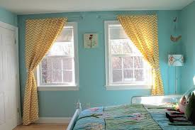 awesome teal and yellow curtains and red and teal shower curtain
