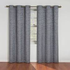 Grey And Blue Curtains Eclipse Meridian Blackout River Blue Curtain Panel 95 In Length