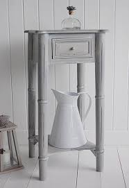 Grey Side Table A Grey Bedside Table Form The New England Range Bedroom