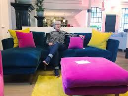 Pink Sofa Com That Yellow Velvet Sofa U2013 Sophie Robinson