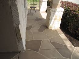 Patio Stone Flooring Ideas by Painted Patio U0027stone Pattern U0027 Lasts A Lifetime And Is Stain